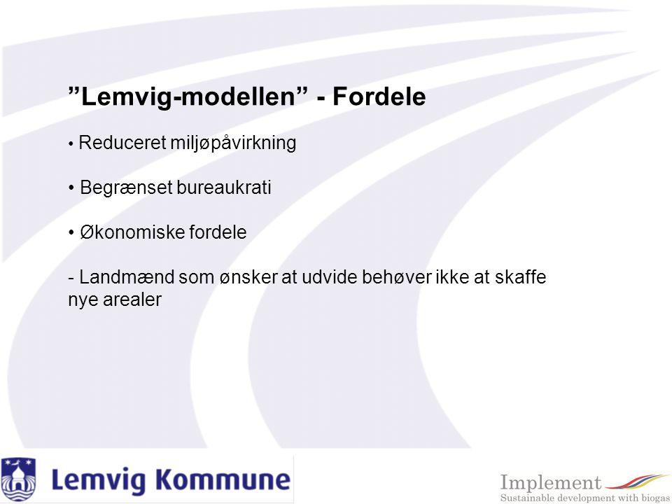 Lemvig-modellen - Fordele