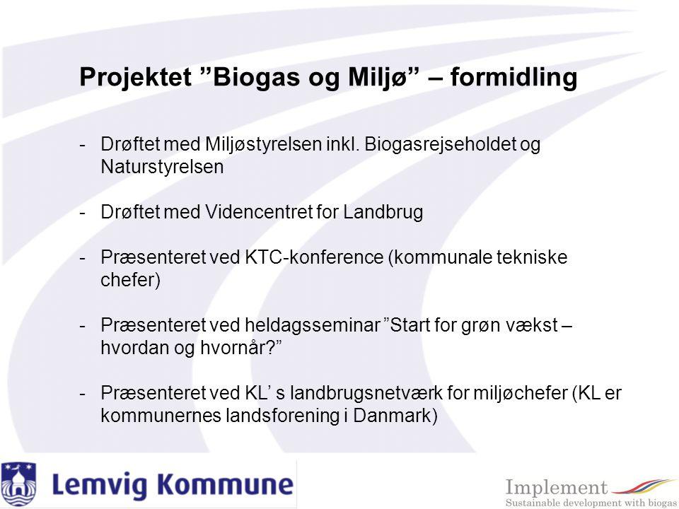 Projektet Biogas og Miljø – formidling