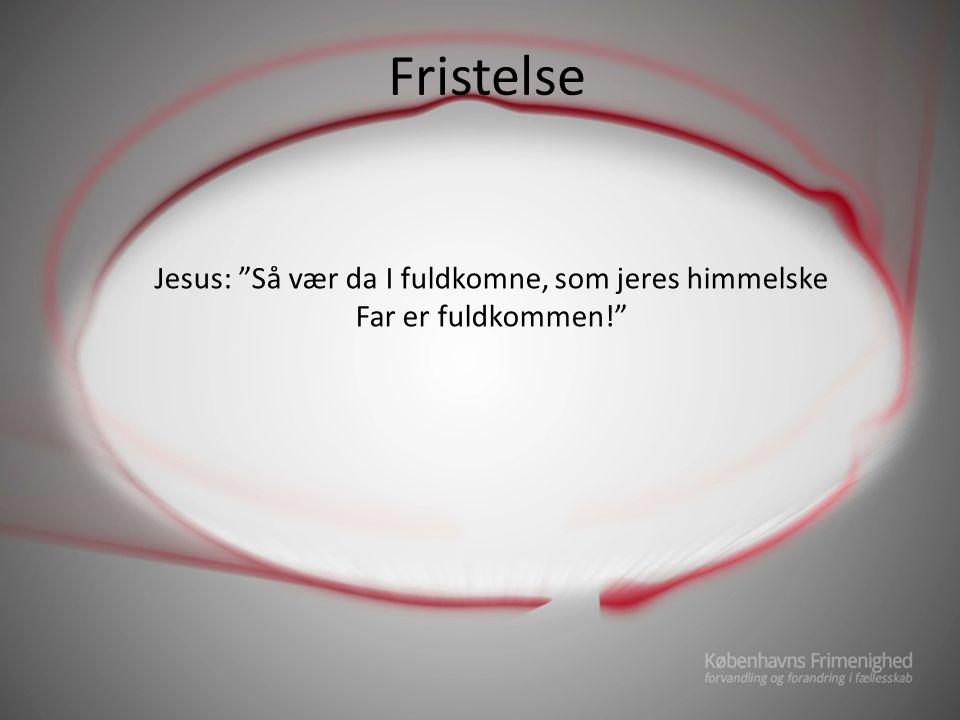 Jesus: Så vær da I fuldkomne, som jeres himmelske Far er fuldkommen!