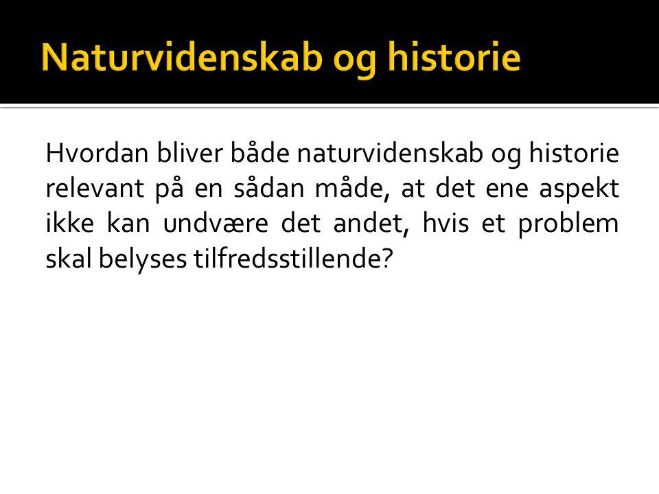 Naturvidenskab og historie