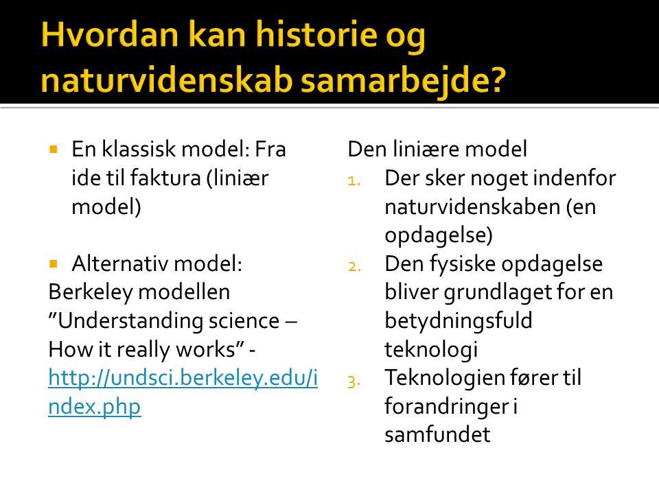 Hvordan kan historie og naturvidenskab samarbejde