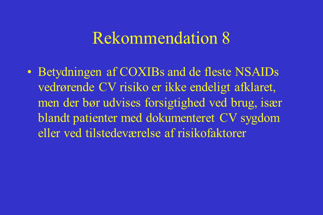 Rekommendation 8