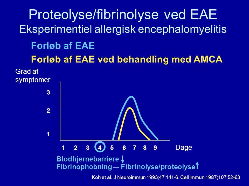Proteolyse/fibrinolyse ved EAE Eksperimentiel allergisk encephalomyelitis
