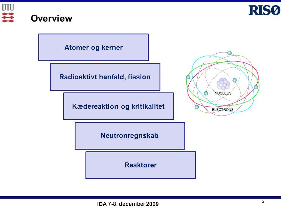 Radioaktivt henfald, fission Kædereaktion og kritikalitet