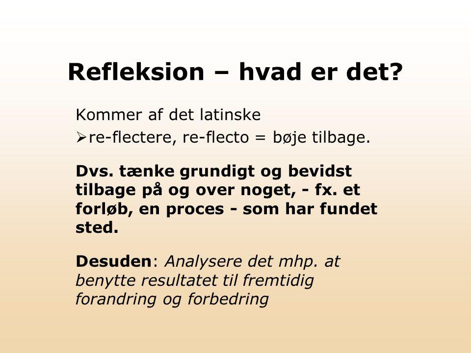 Refleksion – hvad er det