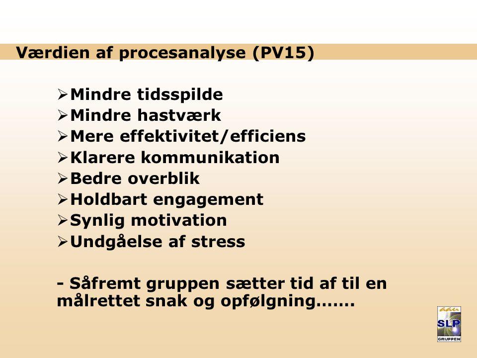 Værdien af procesanalyse (PV15)