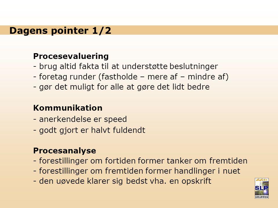Dagens pointer 1/2 Procesevaluering