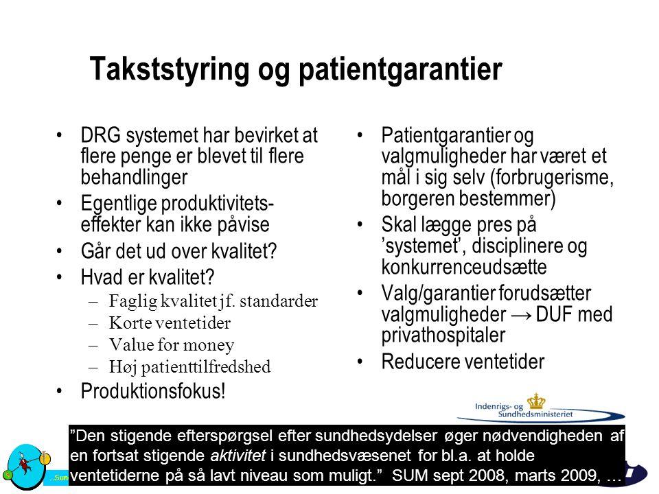 Takststyring og patientgarantier