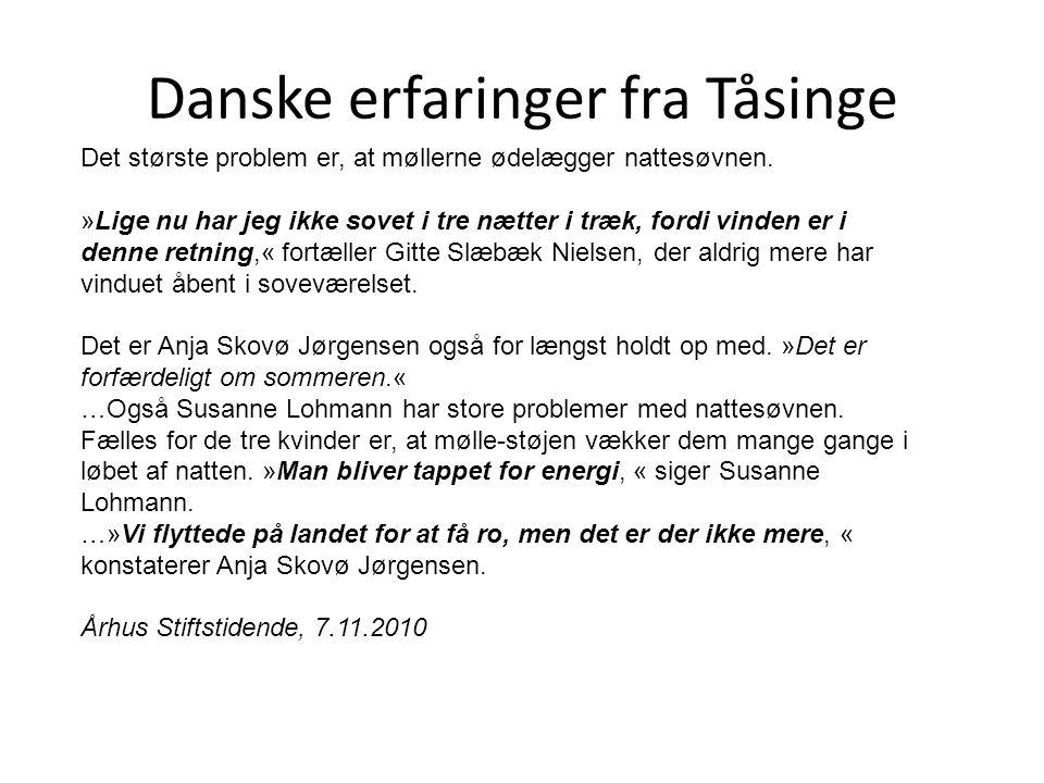 Danske erfaringer fra Tåsinge