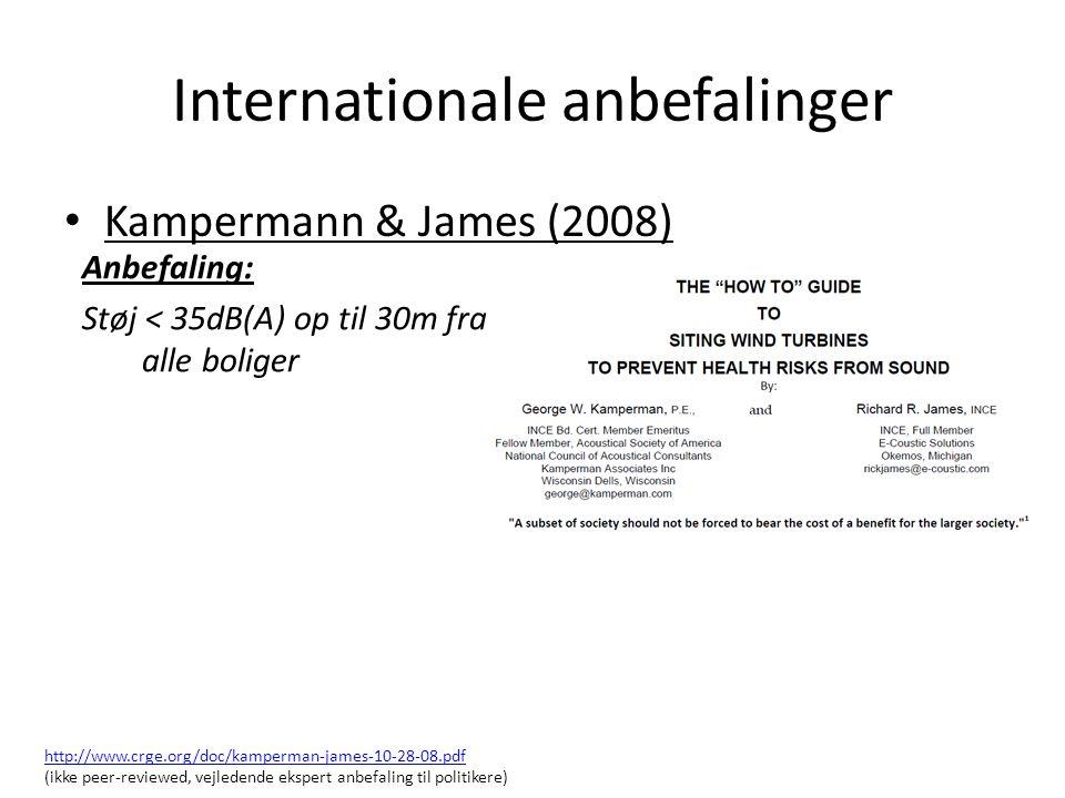 Internationale anbefalinger