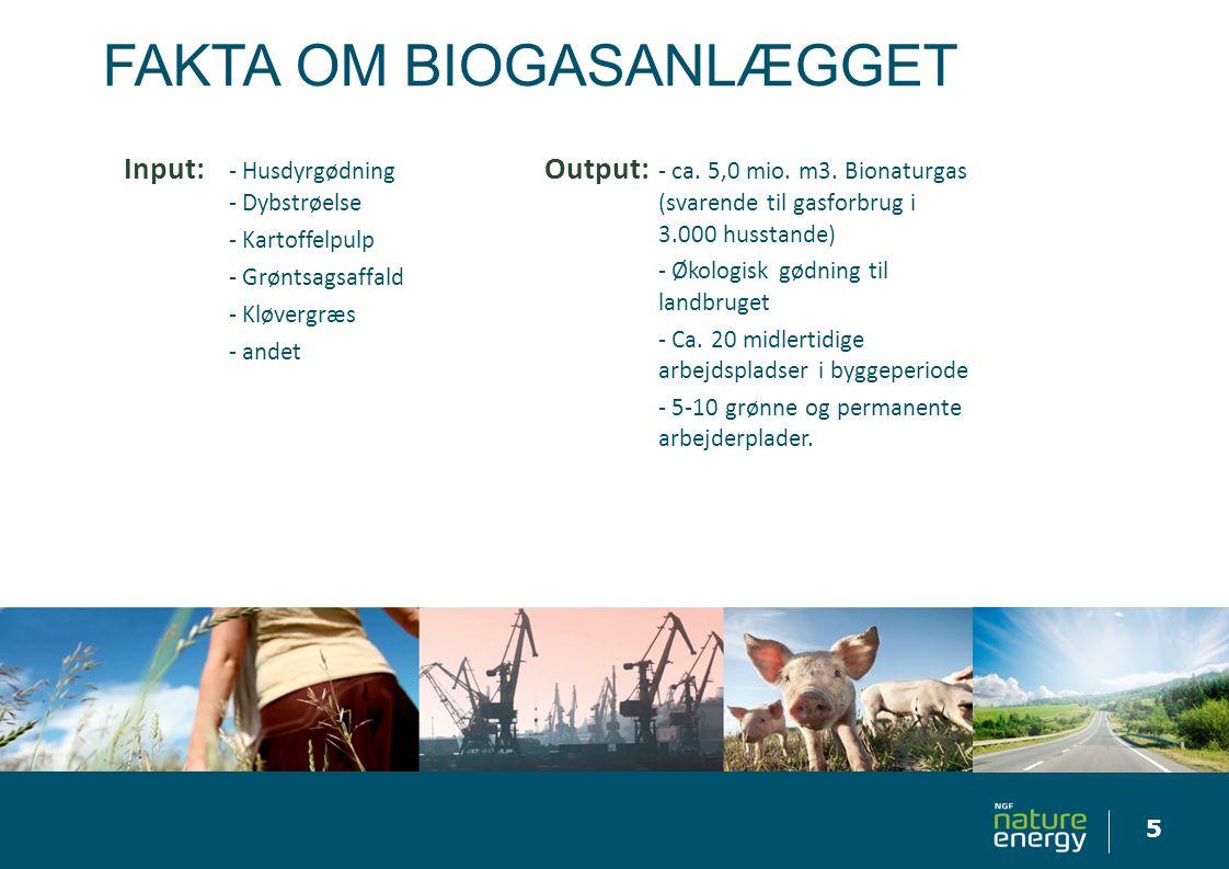 Fakta om biogasanlægget