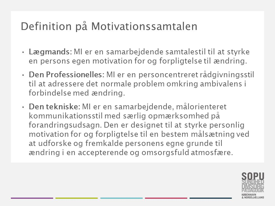 Definition på Motivationssamtalen