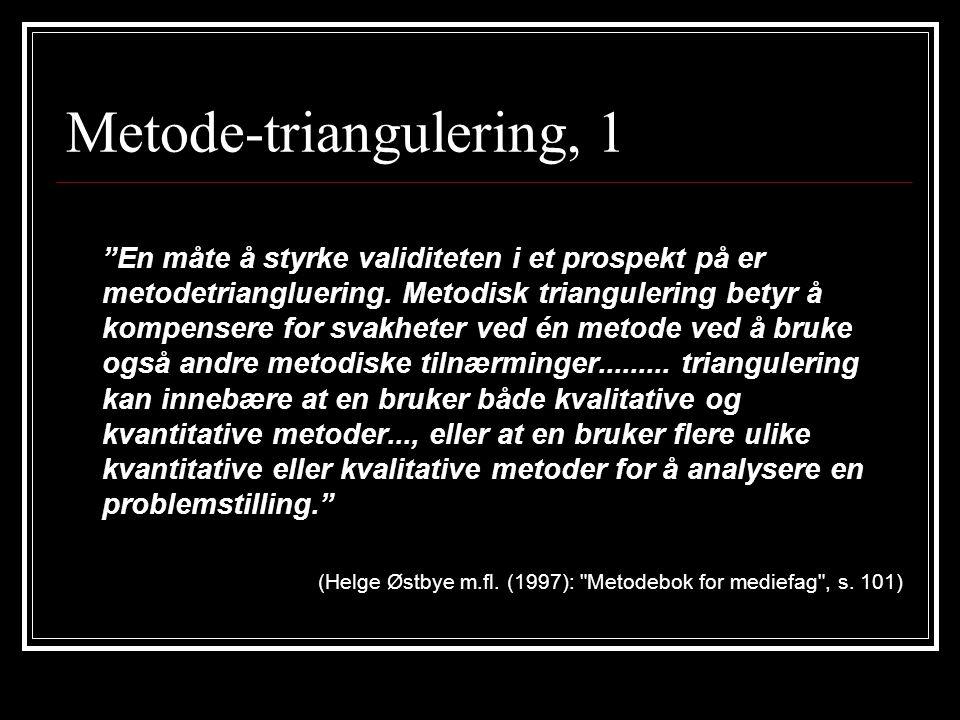 Metode-triangulering, 1