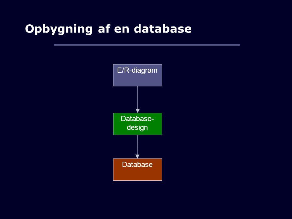 Opbygning af en database