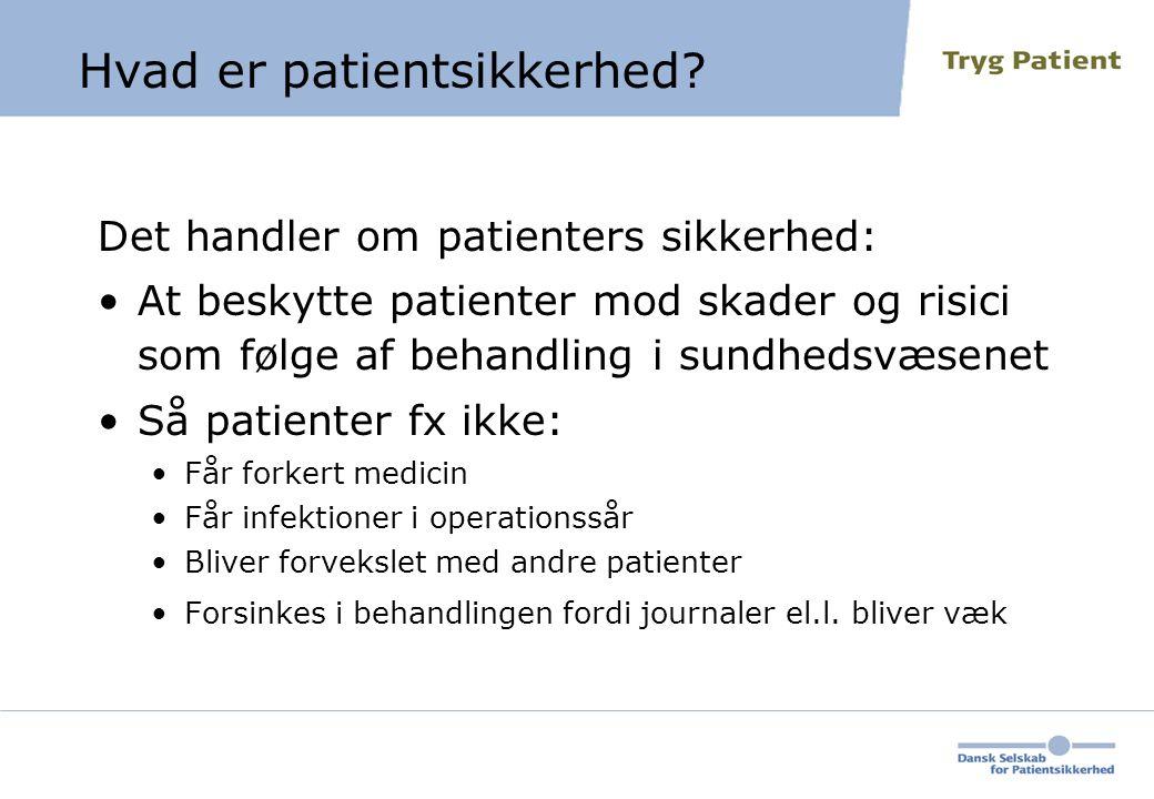 Hvad er patientsikkerhed