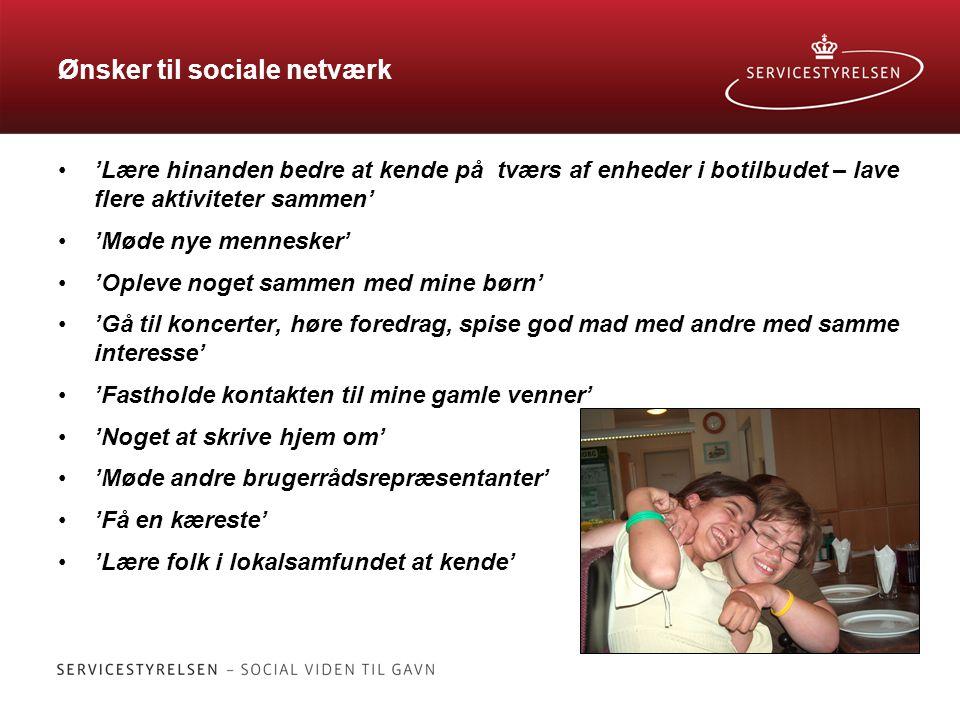 Ønsker til sociale netværk