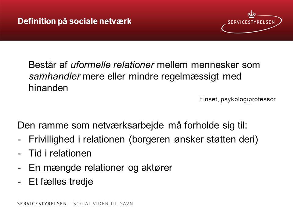 Definition på sociale netværk