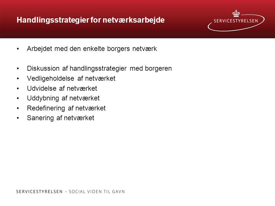 Handlingsstrategier for netværksarbejde