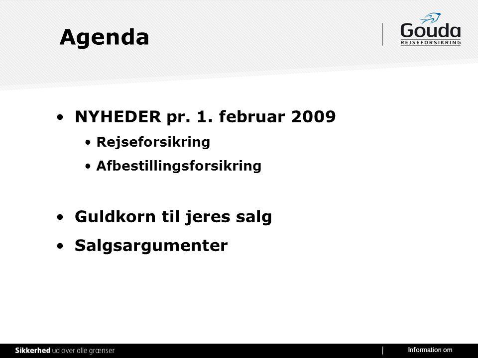 Agenda NYHEDER pr. 1. februar 2009 Guldkorn til jeres salg