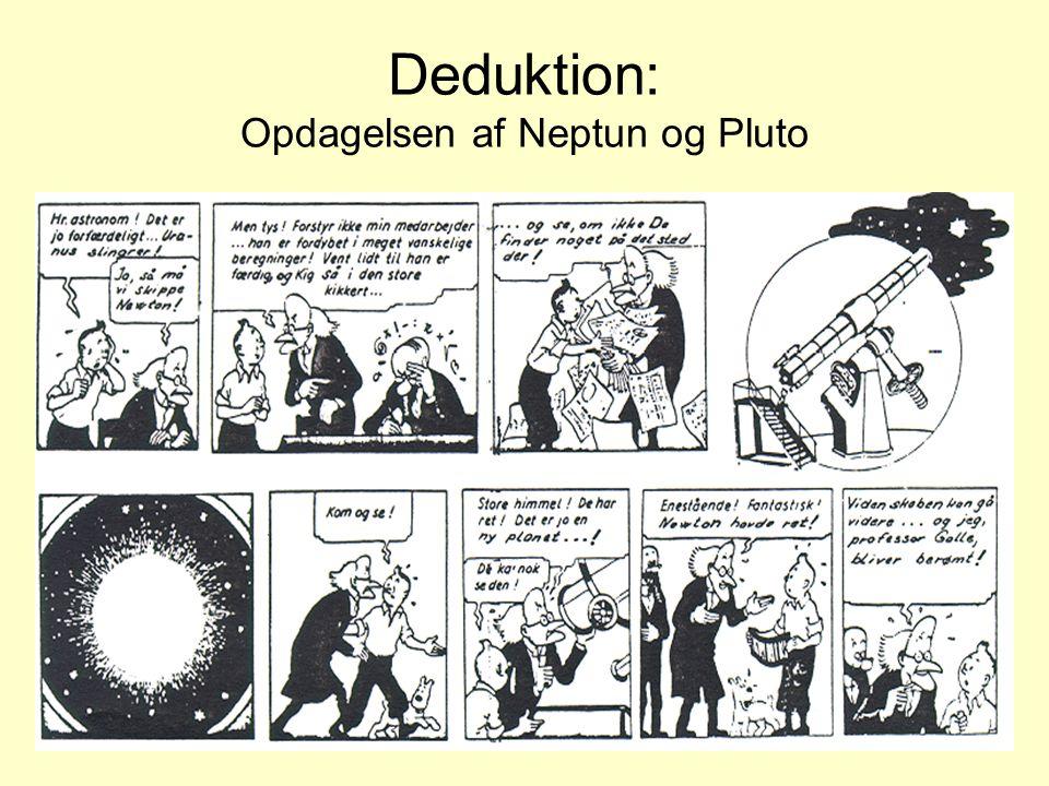 Deduktion: Opdagelsen af Neptun og Pluto