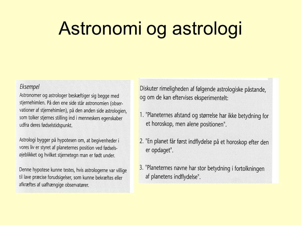 Astronomi og astrologi