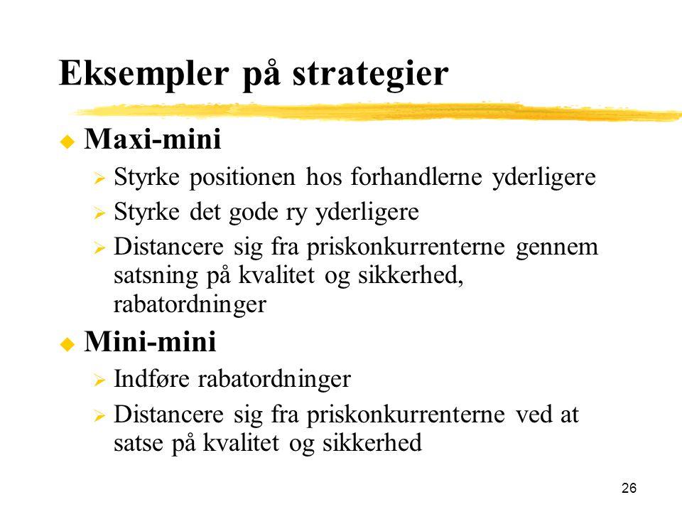 Eksempler på strategier