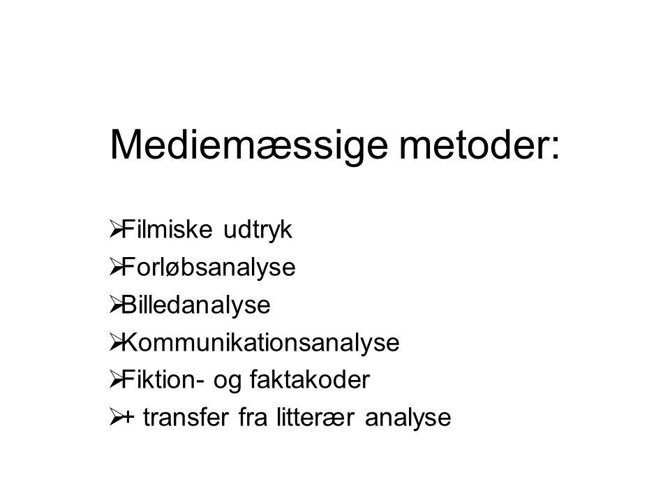 Mediemæssige metoder: