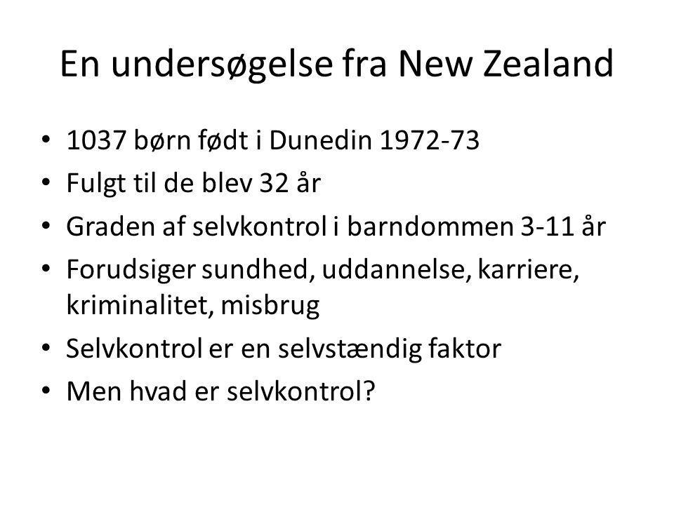 En undersøgelse fra New Zealand