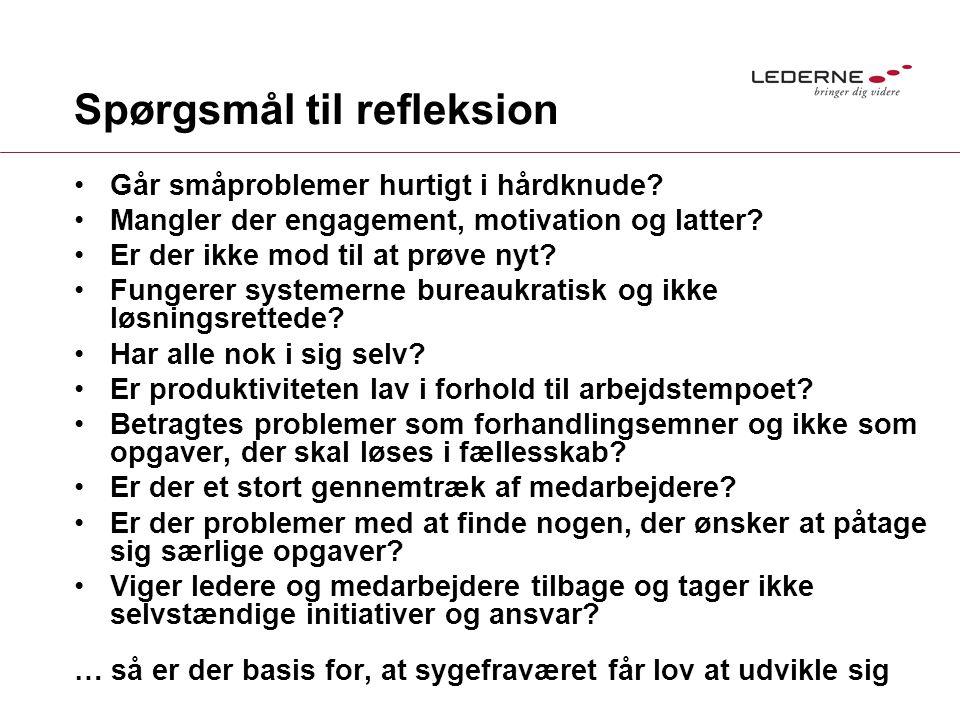 Spørgsmål til refleksion