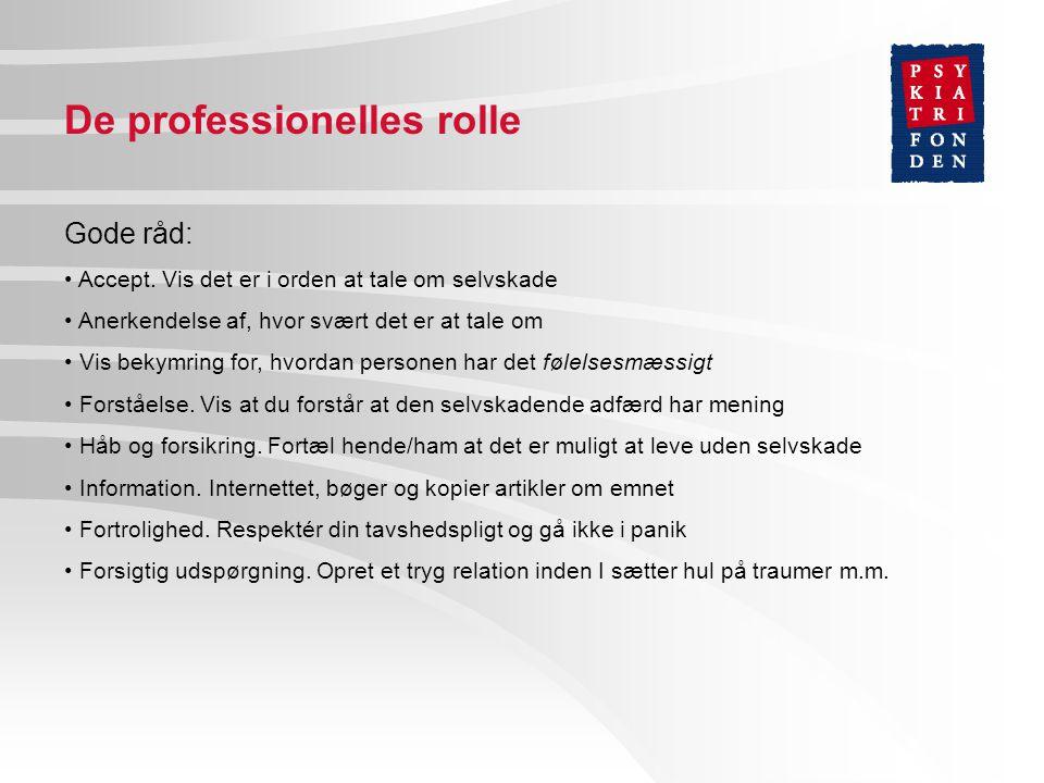 De professionelles rolle