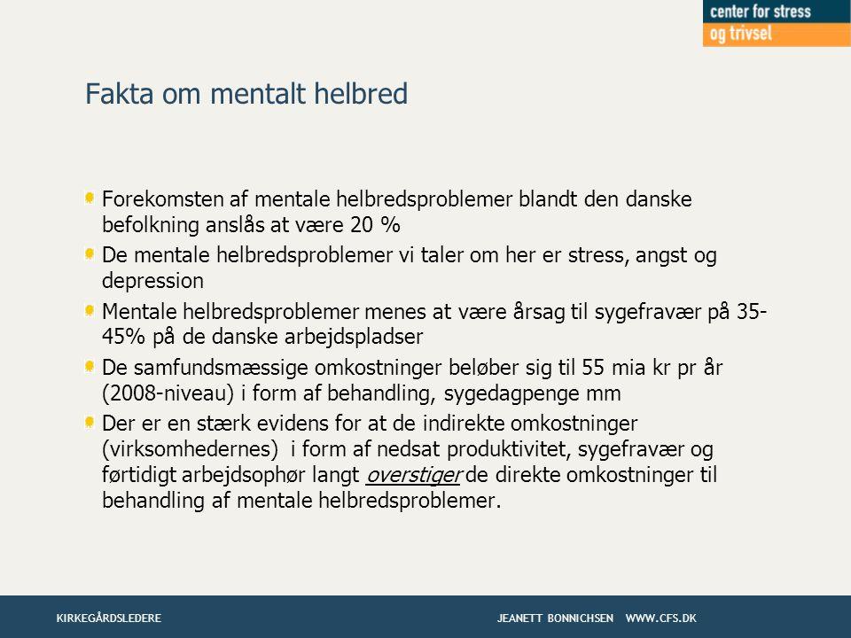 Fakta om mentalt helbred