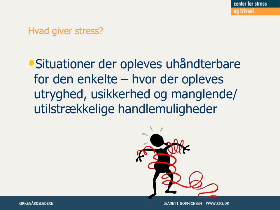 Hvad giver stress