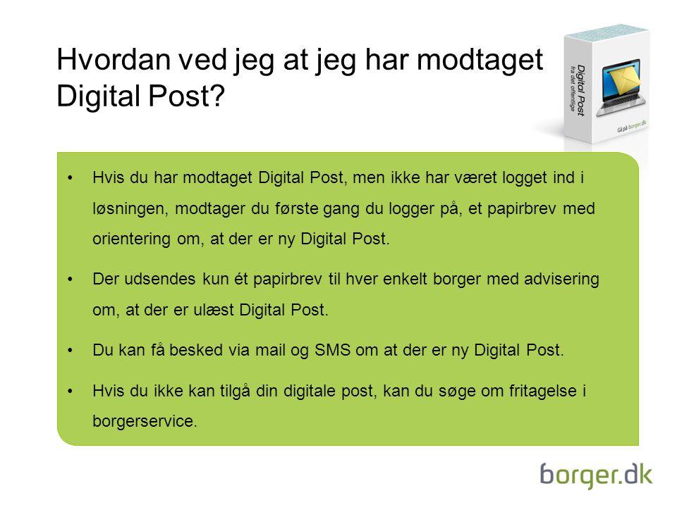 Hvordan ved jeg at jeg har modtaget Digital Post