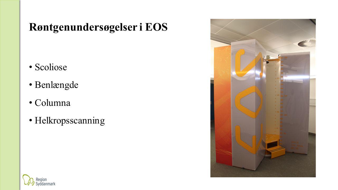 Røntgenundersøgelser i EOS