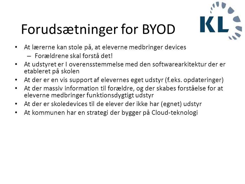 Forudsætninger for BYOD
