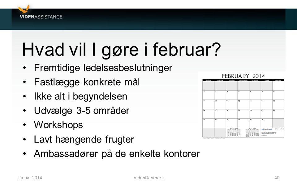 Hvad vil I gøre i februar
