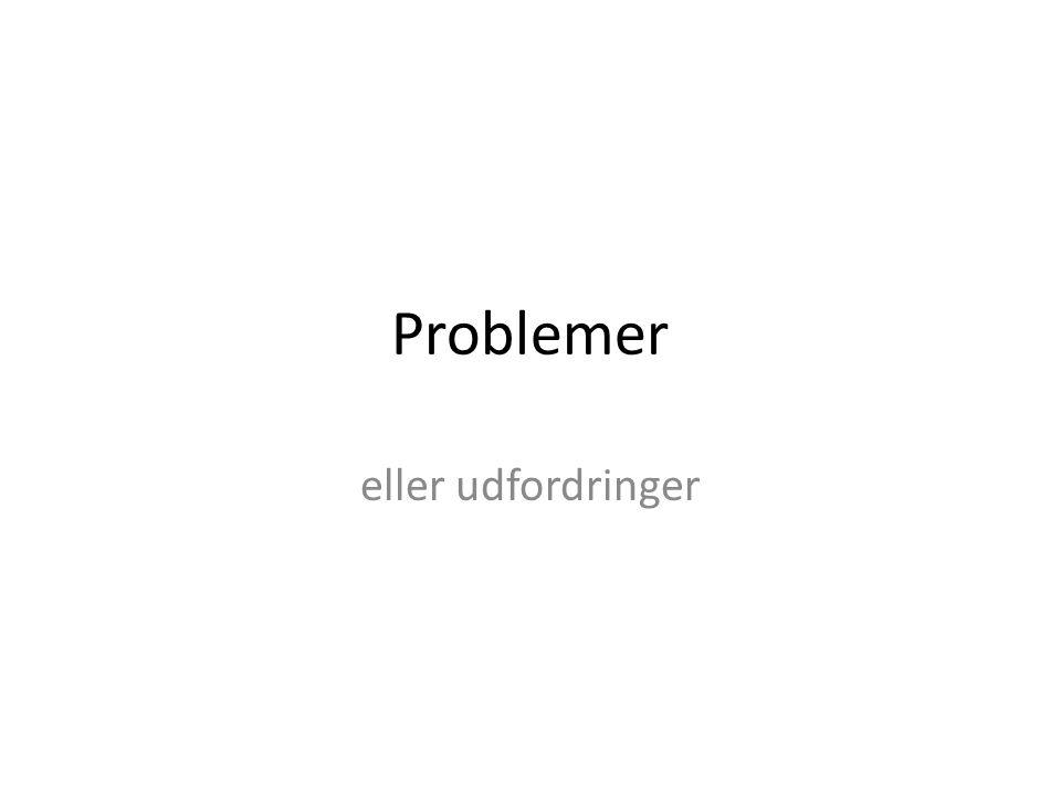 Problemer eller udfordringer