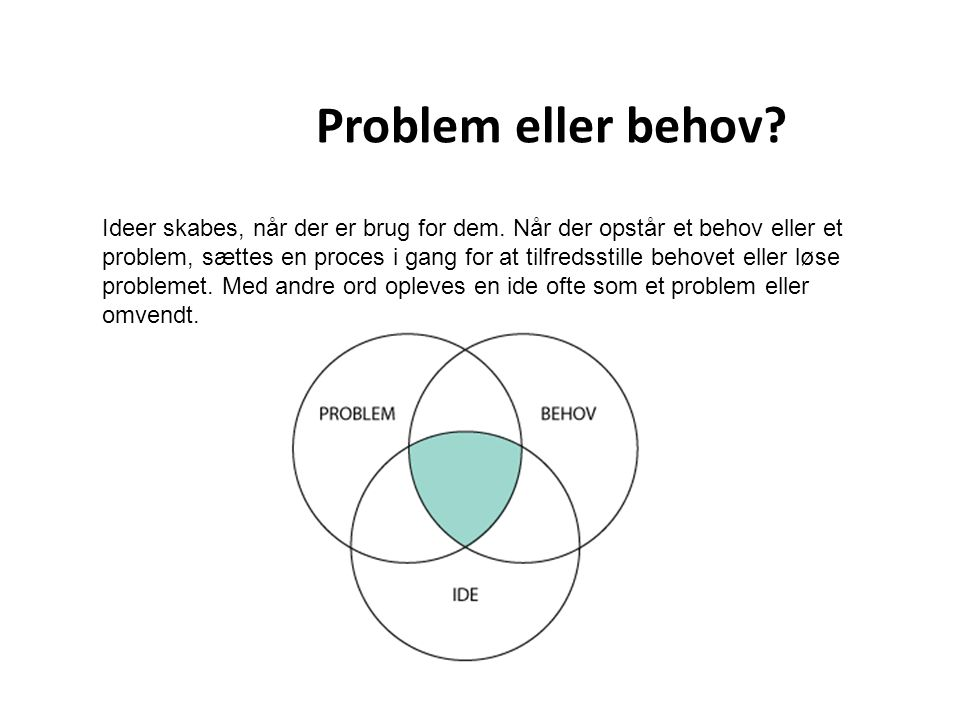 Problem eller behov