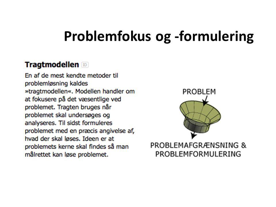 Problemfokus og -formulering