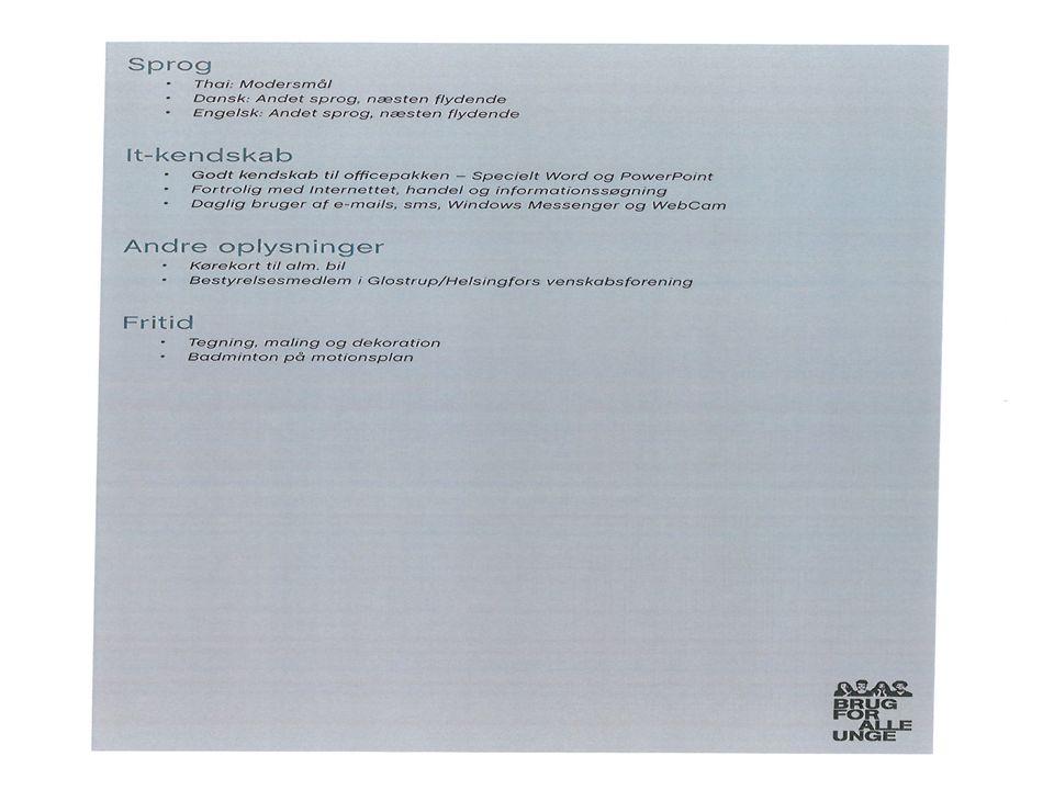 CV Skrivning Eksempel 1 på CV Eksempel 2 på CV