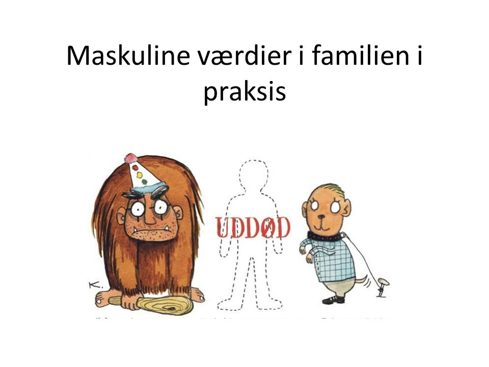 Maskuline værdier i familien i praksis