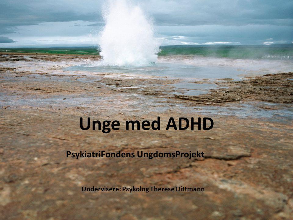 PsykiatriFondens UngdomsProjekt Undervisere: Psykolog Therese Dittmann
