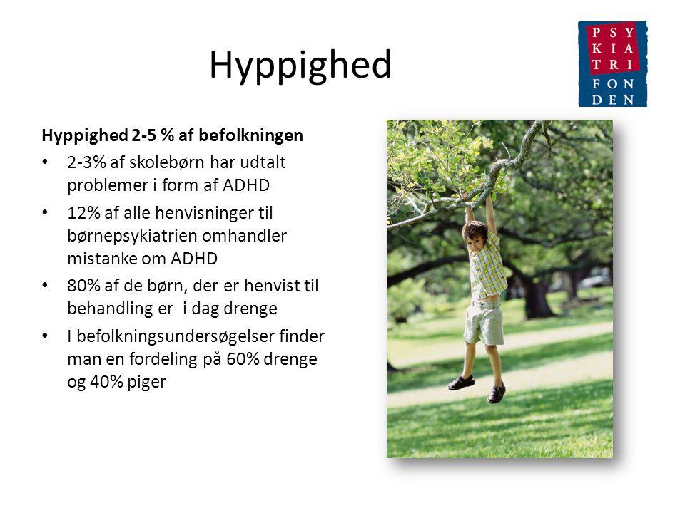 Hyppighed Hyppighed 2-5 % af befolkningen