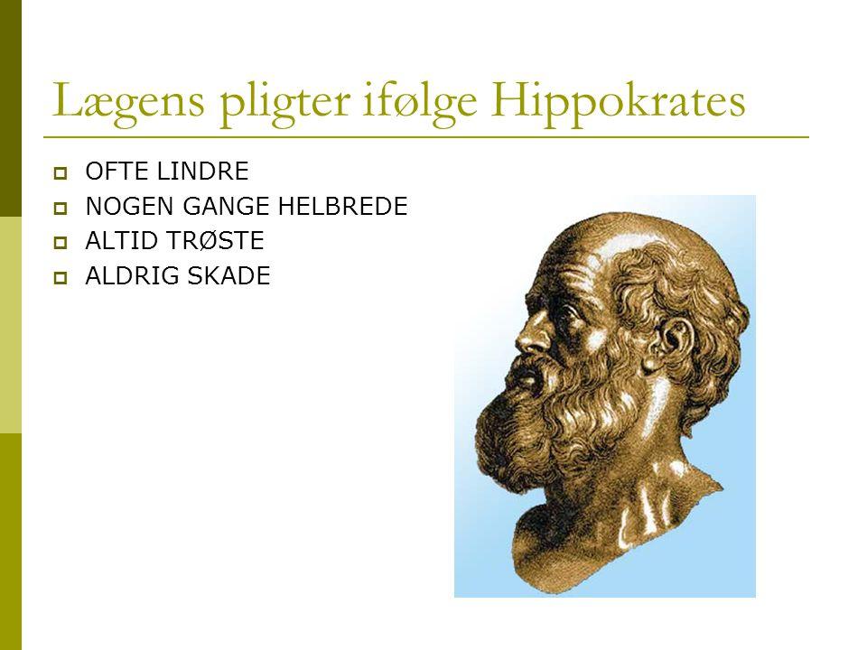 Lægens pligter ifølge Hippokrates