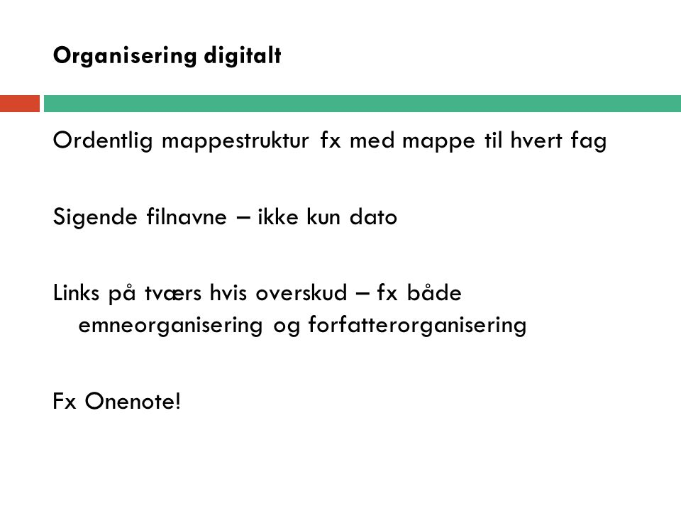 Organisering digitalt