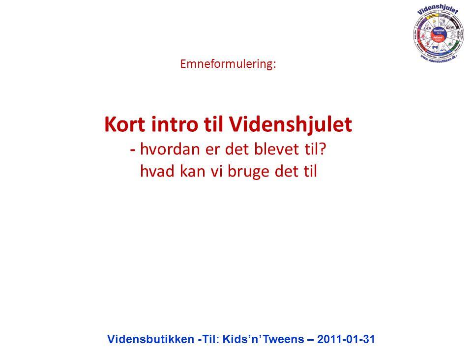 Vidensbutikken -Til: Kids'n'Tweens – 2011-01-31