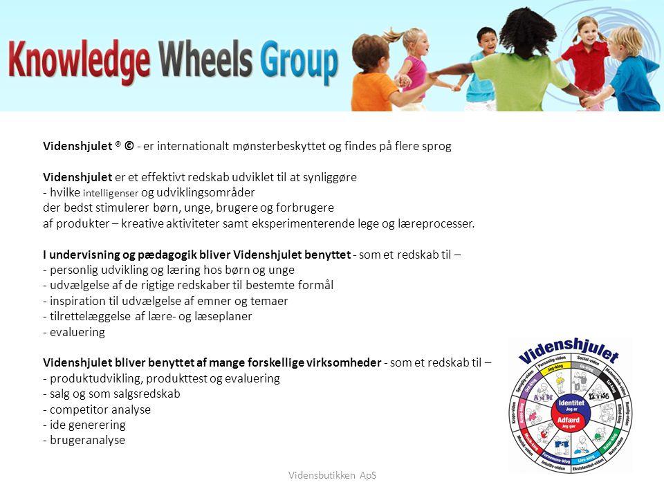 Videnshjulet ® © - er internationalt mønsterbeskyttet og findes på flere sprog