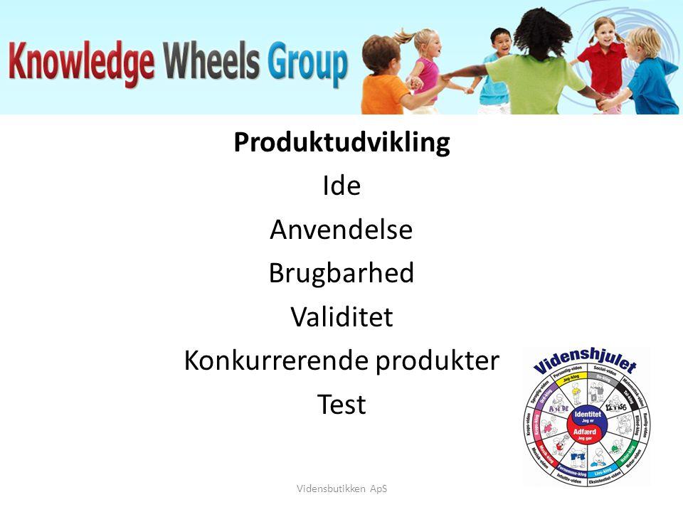 Produktudvikling Ide Anvendelse Brugbarhed Validitet Konkurrerende produkter Test