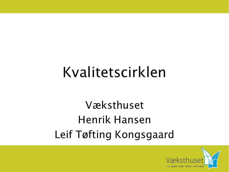 Væksthuset Henrik Hansen Leif Tøfting Kongsgaard