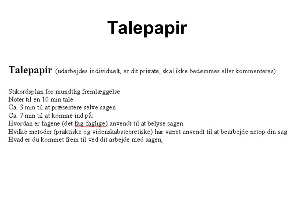 Talepapir